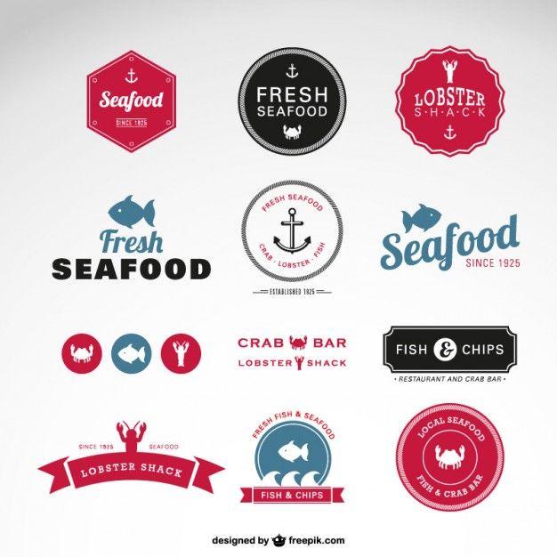 Sea food vector badges Free Vector Graphics Tutorials \ Resources - fresh invitation banner vector