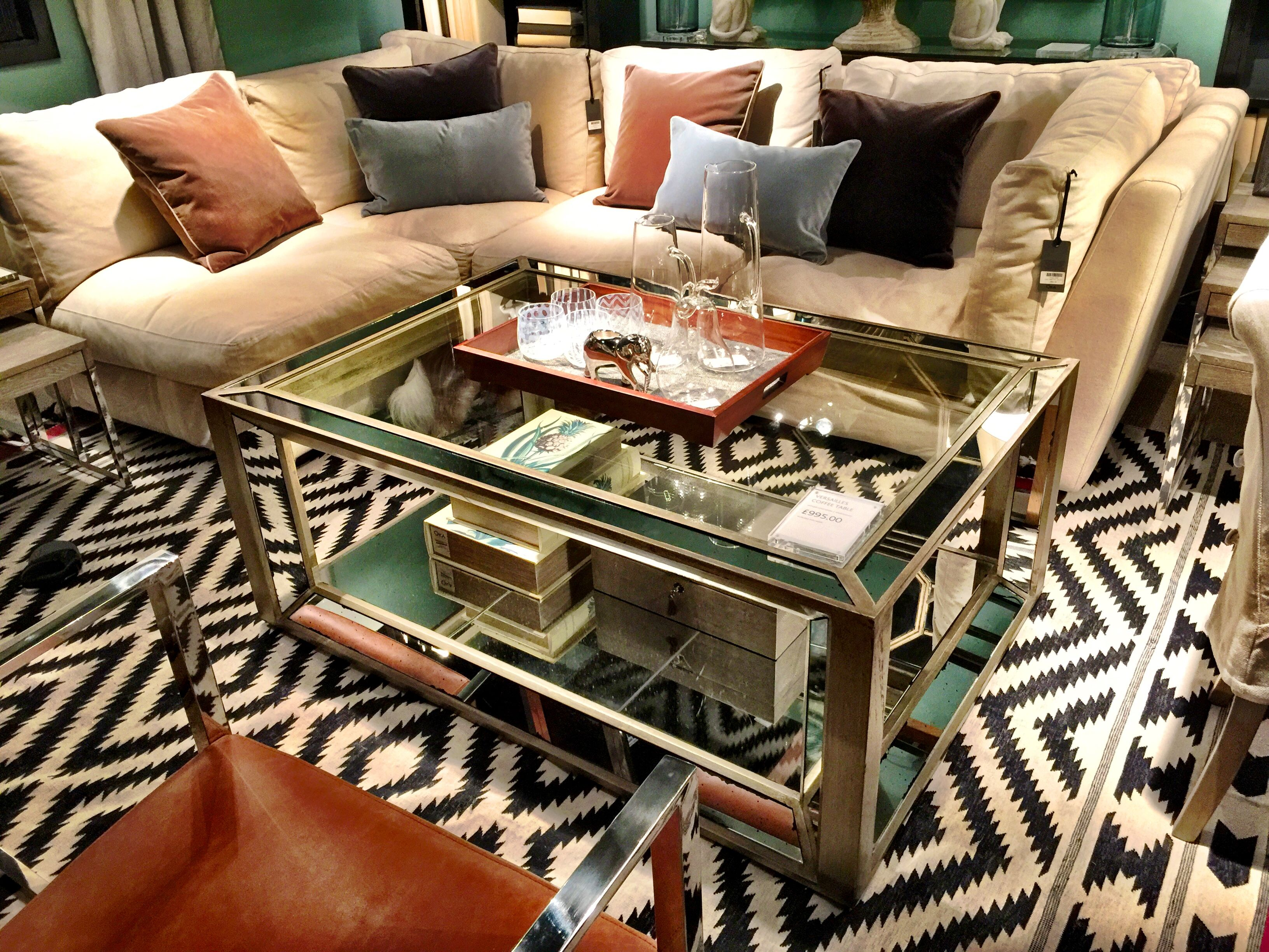 Versailles Mirrored Coffee Table