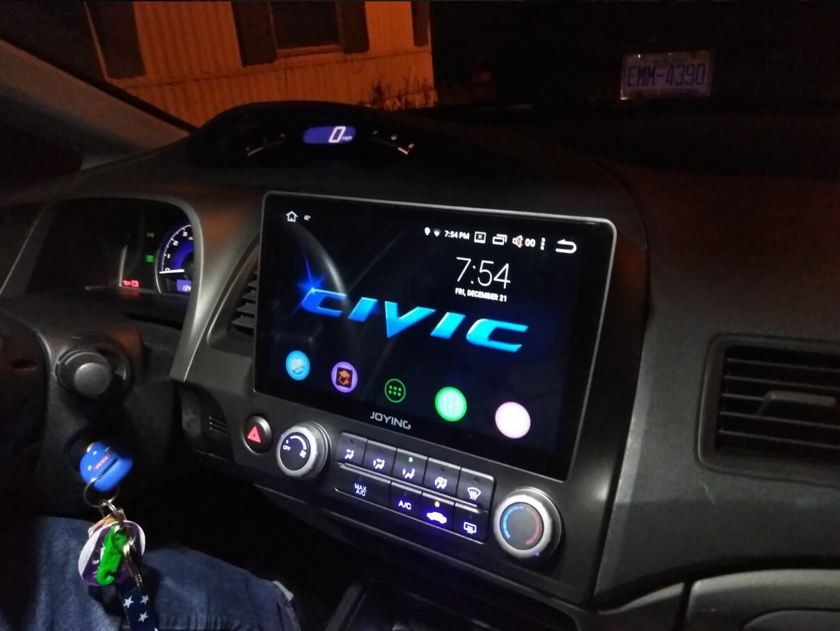 Joying 9 Inch Android 10 0 Plug And Play Car Media Player For Honda Civic 2006 2011 Honda Civic Honda Civic Hatchback 2010 Honda Civic