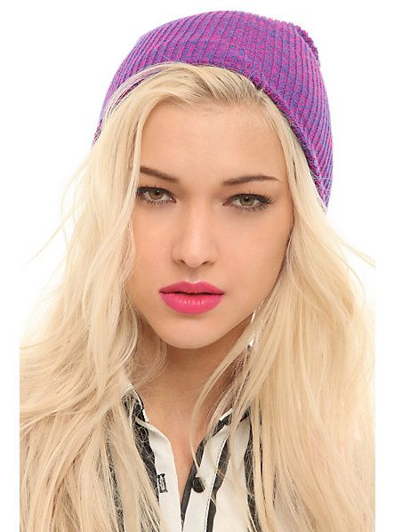 d0612086e5a Pink And Blue Marled Beanie
