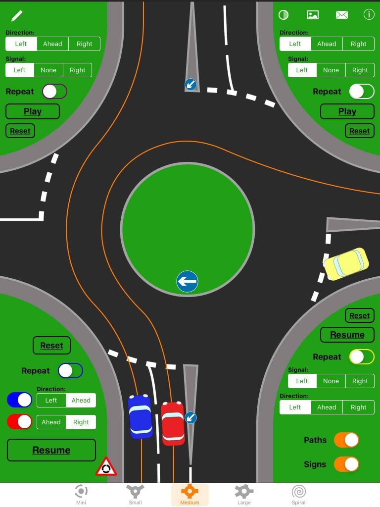 how to deal with roundabouts uk