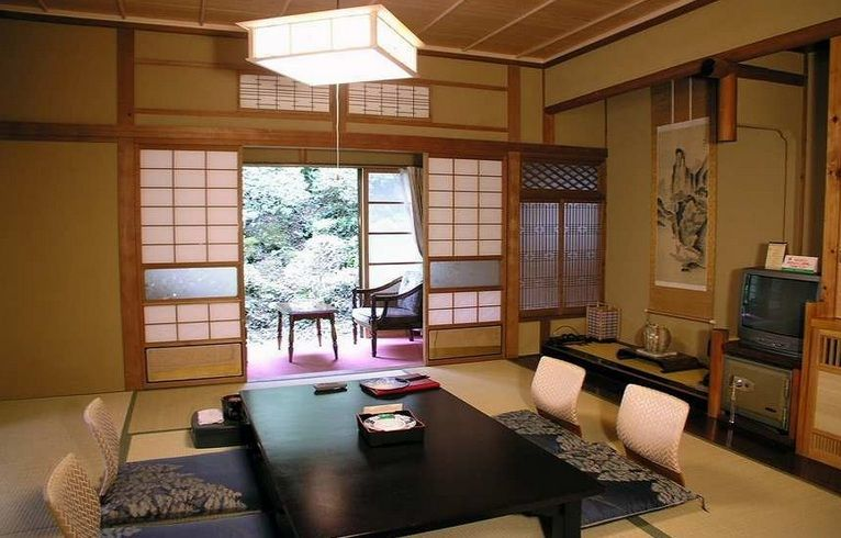 Japanese style living room ideas with japanese sliding screen door ...