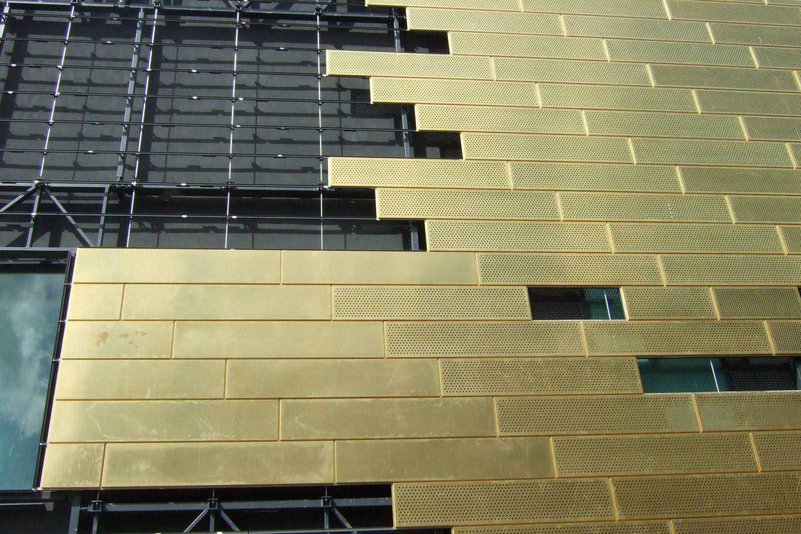 Perforated Gold Metal Panels Perforated Metal Facade
