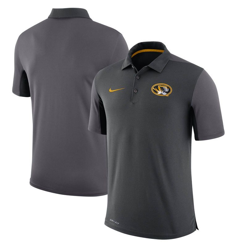 4a247b9c7 Missouri Tigers Nike Two-Tone 2017 Team Issue Dri-FIT Polo - Anthracite