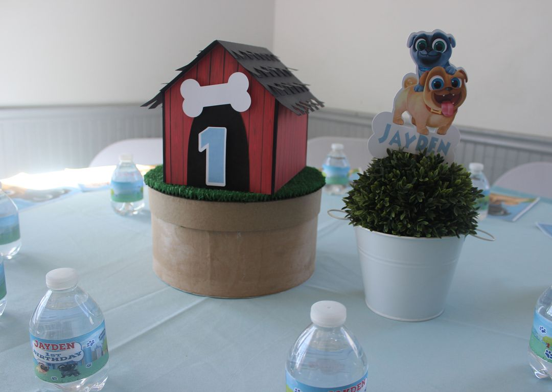 Puppy Dog Pals Birthday Party Centerpiece Favor Boxes Placemats Water Bottle Lab Dog Themed Birthday Party Puppy Birthday Parties Boy Birthday Party Themes