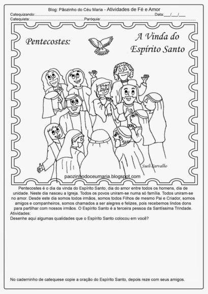 desenhe pentecostes atividades escolares pinterest blog page
