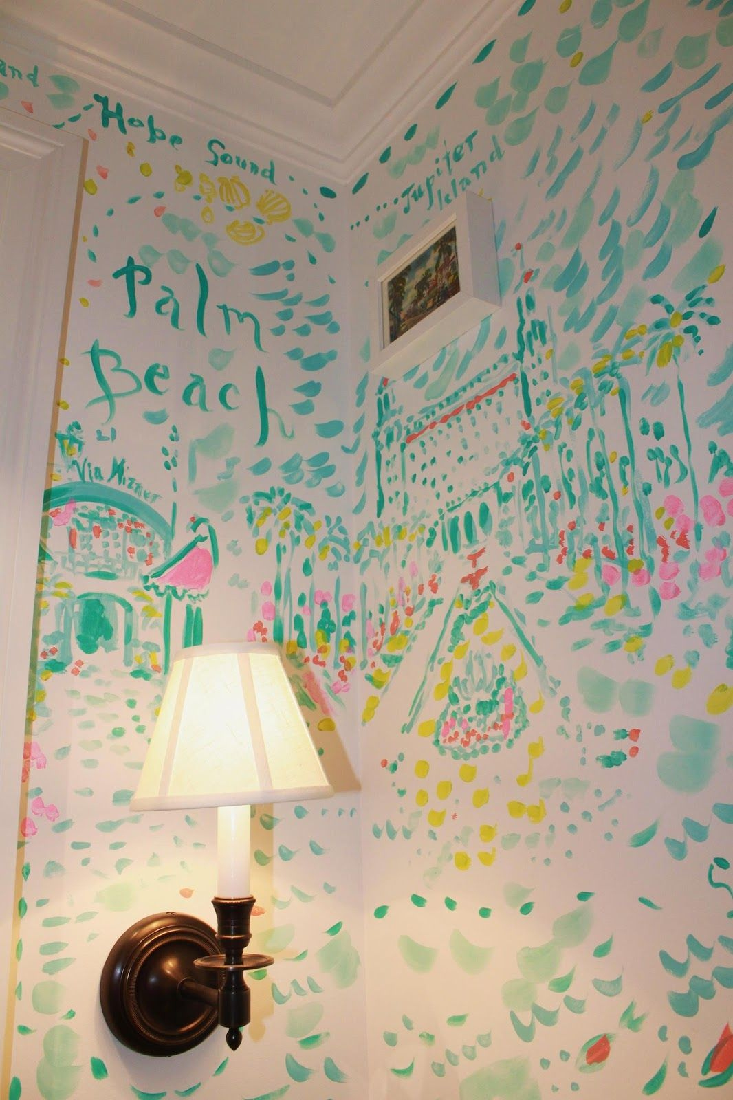 The Breakers Palm Beach Hand Painted Mural. Lilly Pulitzer Tysons Galleria  Opens