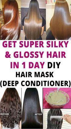 Get Super Silky Glossy Hair In 1 Day Diy Hair Mask