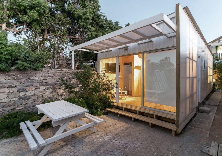 Analizaremos el diseo de una casa pequea prefabricada construida