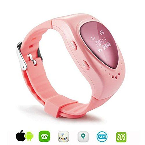 Dreamclub Spy Gps Gsm Bracelet Watch Tracker For Kids With Sos Alarm Support Android Ios Sim Card Wristwatch Pink Gps Tracker Watch Watch Tracker Gps Watch