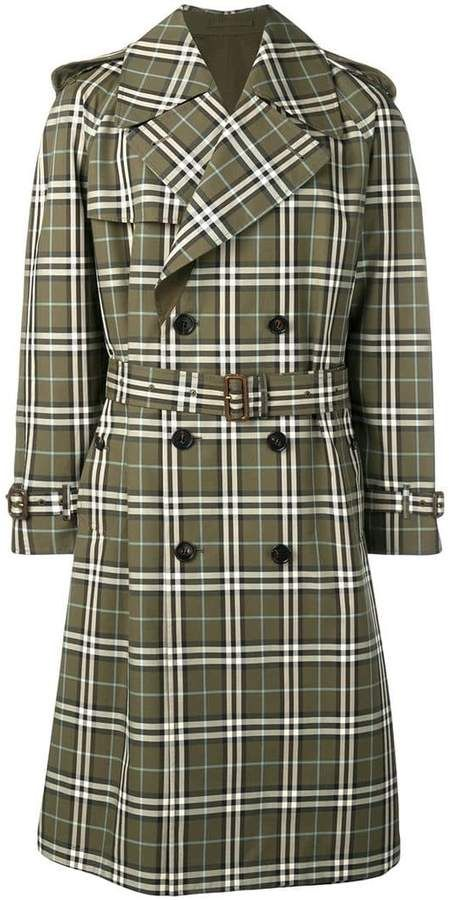 c850fa1f7 Burberry checked trench coat   Outerwear for Rain & Wind & Such in ...