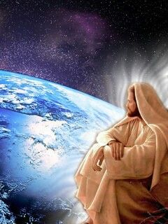 Jesus looking down on earth   Jesus, Way to heaven, Human environment