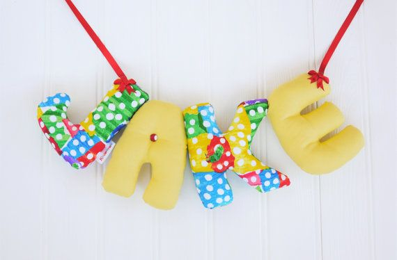 JAKE - Personalized Baby name bunting, name nursery banner. The Very ...