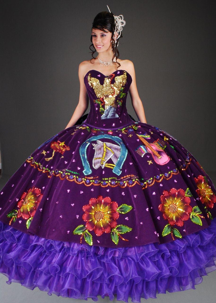 Diseños De Vestidos De Xv Años En 2019 Vestidos Charros De