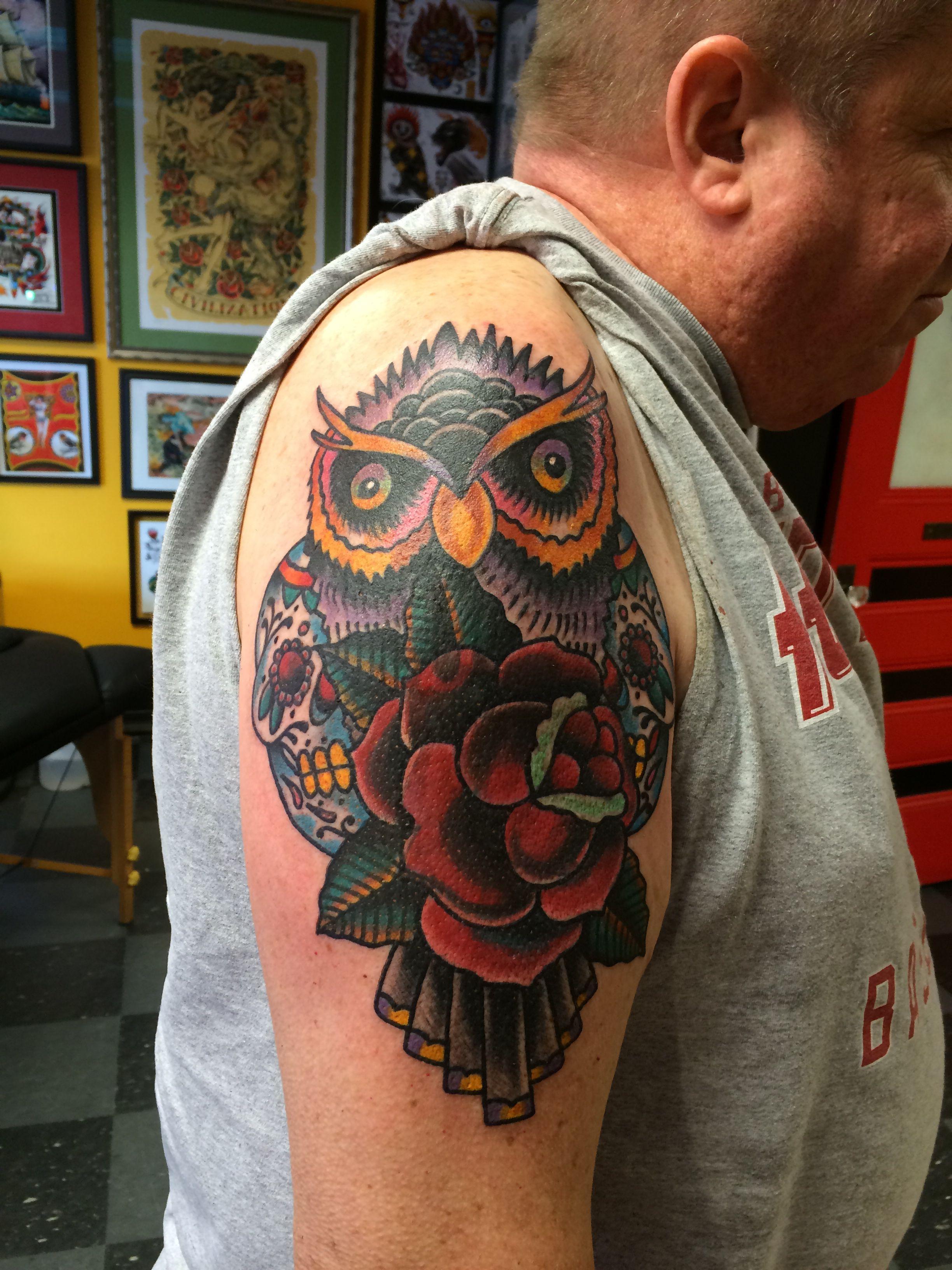 Owl Done Tattoos Newsboy Owl