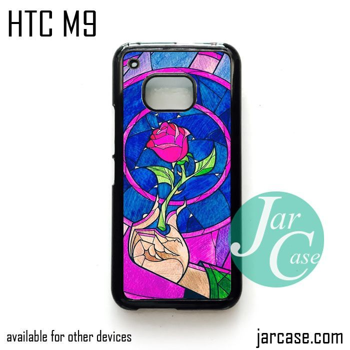 beauty and the beast rose Phone Case for HTC One M9 case and other HTC Devices