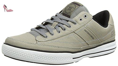 Skechers Go Air, Sneakers Basses Homme - Gris - Grau (CCNV), 42.5