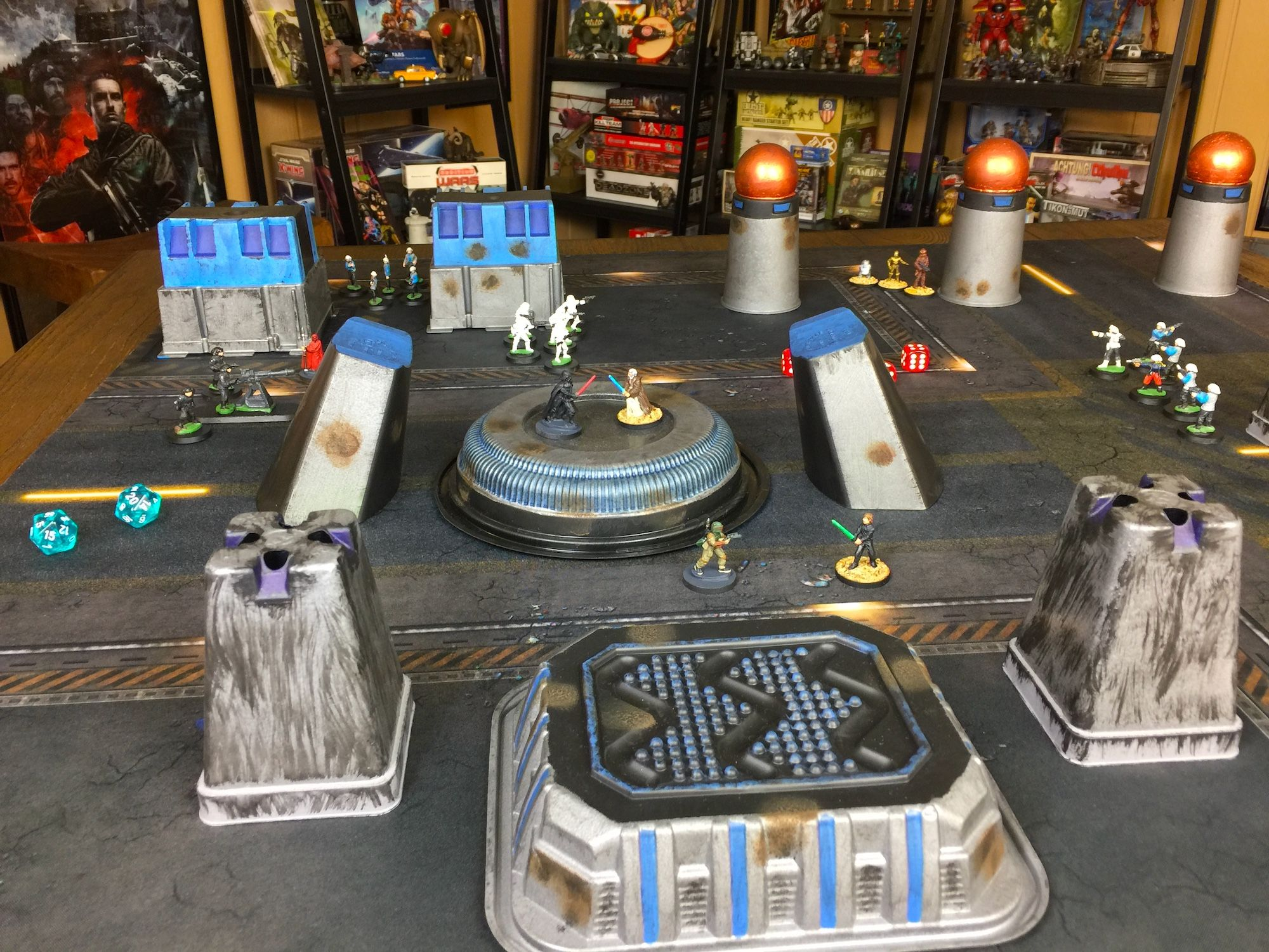 Cheap Terrain For Star Wars Legion Or Star Wars Miniatures Battles Made From Repurposed Food Containers And Oth Miniature Wargaming Miniatures Miniature Games