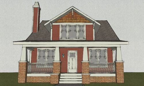 Craftsman Style House Plan 4 Beds 3 Baths 2116 Sq Ft Plan 461 3 Craftsman Style House Plans House Plans Traditional House Plans