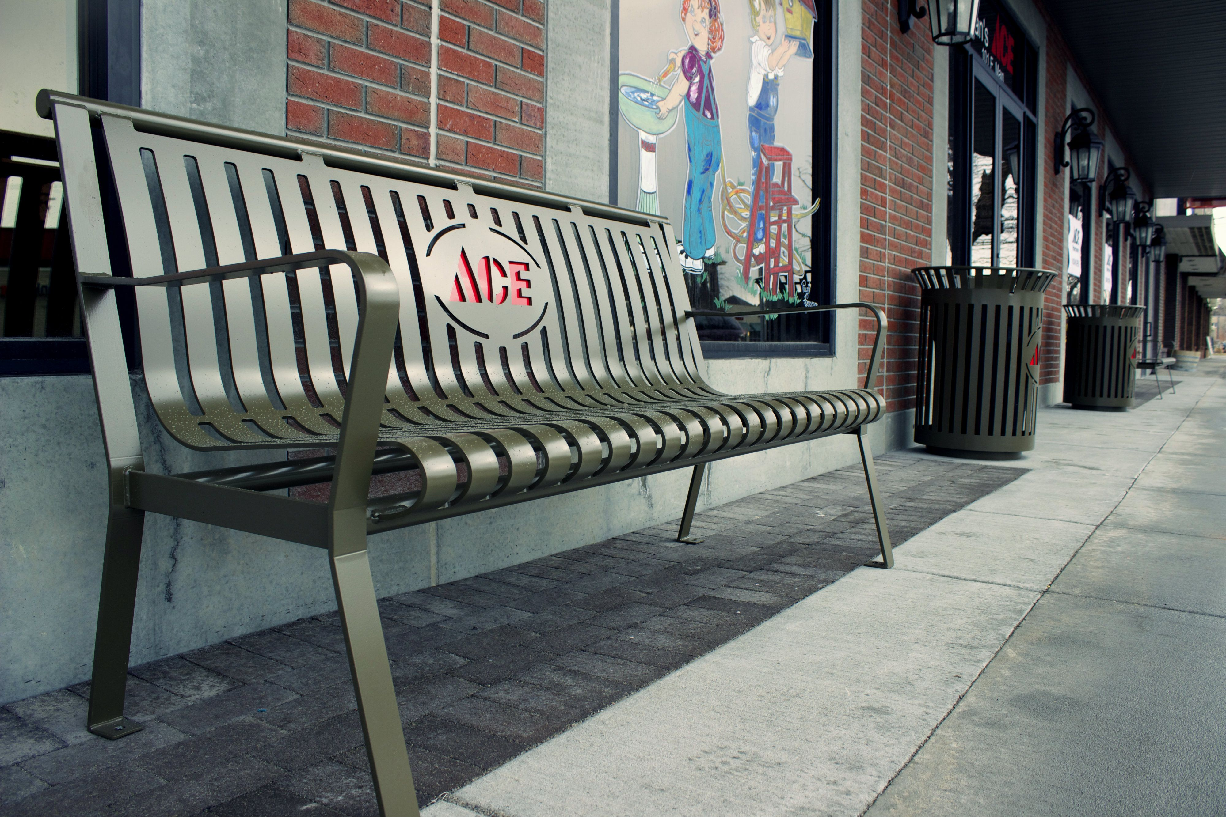 Hey businesses! The sleek, modern design of our benches