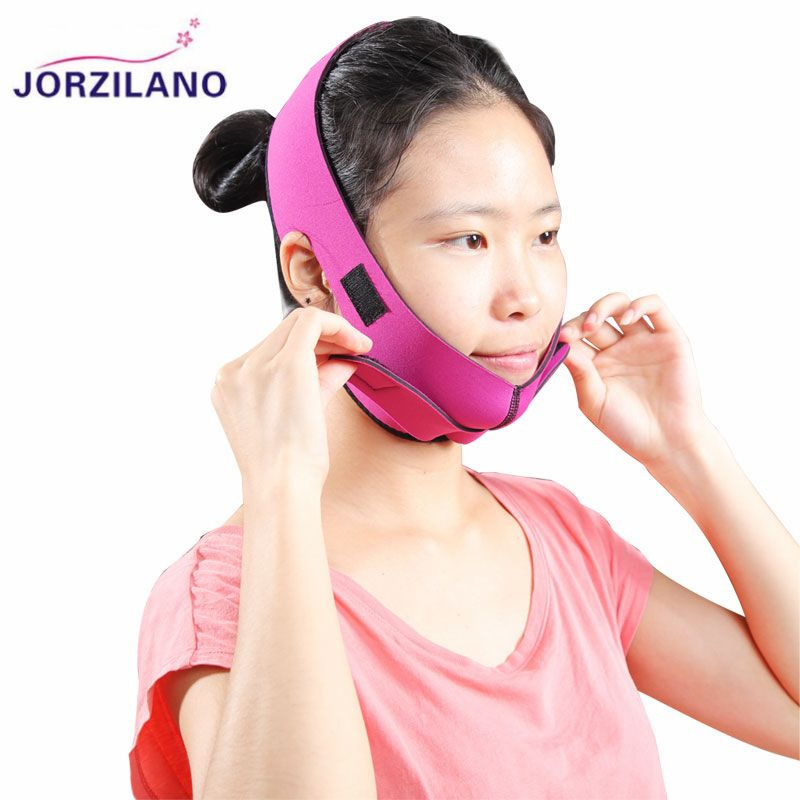 JORZILANO Jaw Pulling Facial Masseter Tools Thin Face Mask Women Wrinkle V Face Chin Cheek Lift Up Ultra-thin Slimming Belt Band