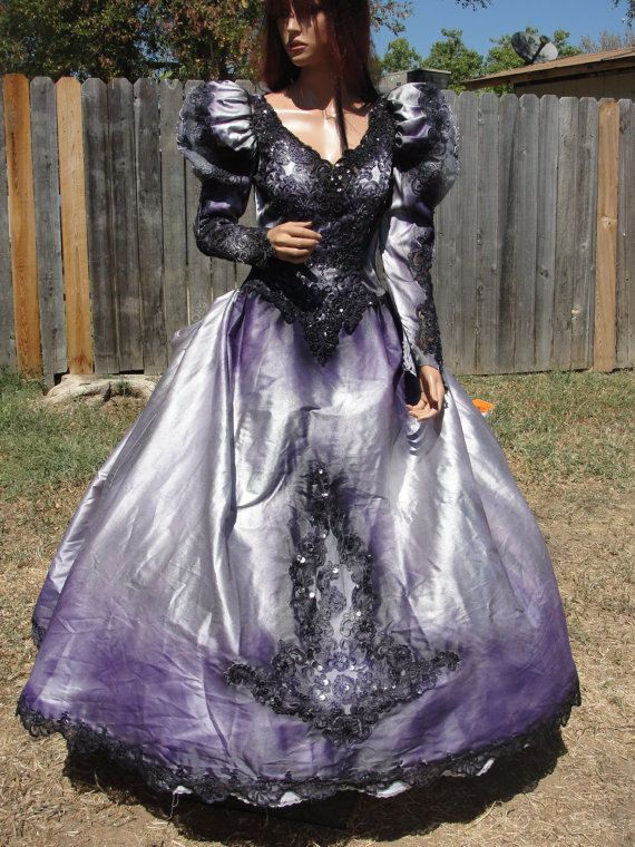 Vintage purple hand dyed and painted gothic by ...