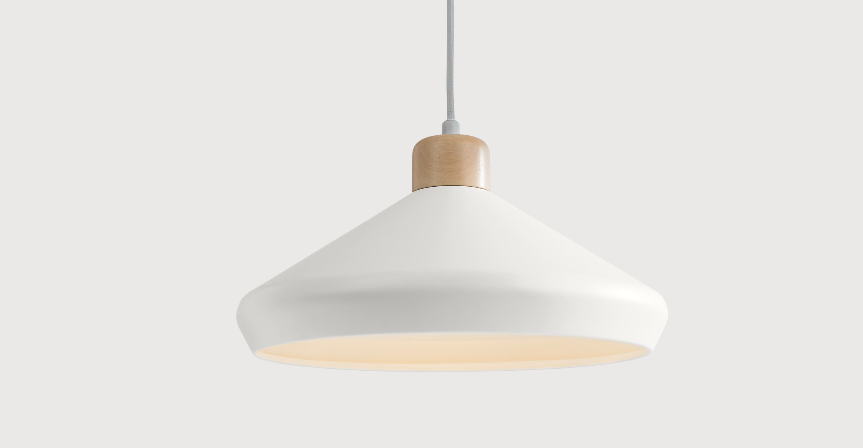 Made pendant lamp muted grey express delivery wood albert