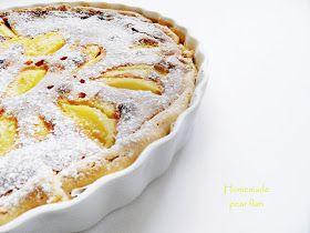 Zelfgemaakt van mij - voor jou: Homemade pear flan