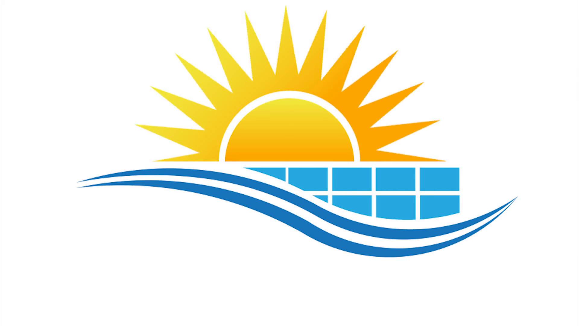Sun With Solar Panel Logo Video Animation Hd Motion Background Videoblocks Solar Logo Sun Logo Animation Background