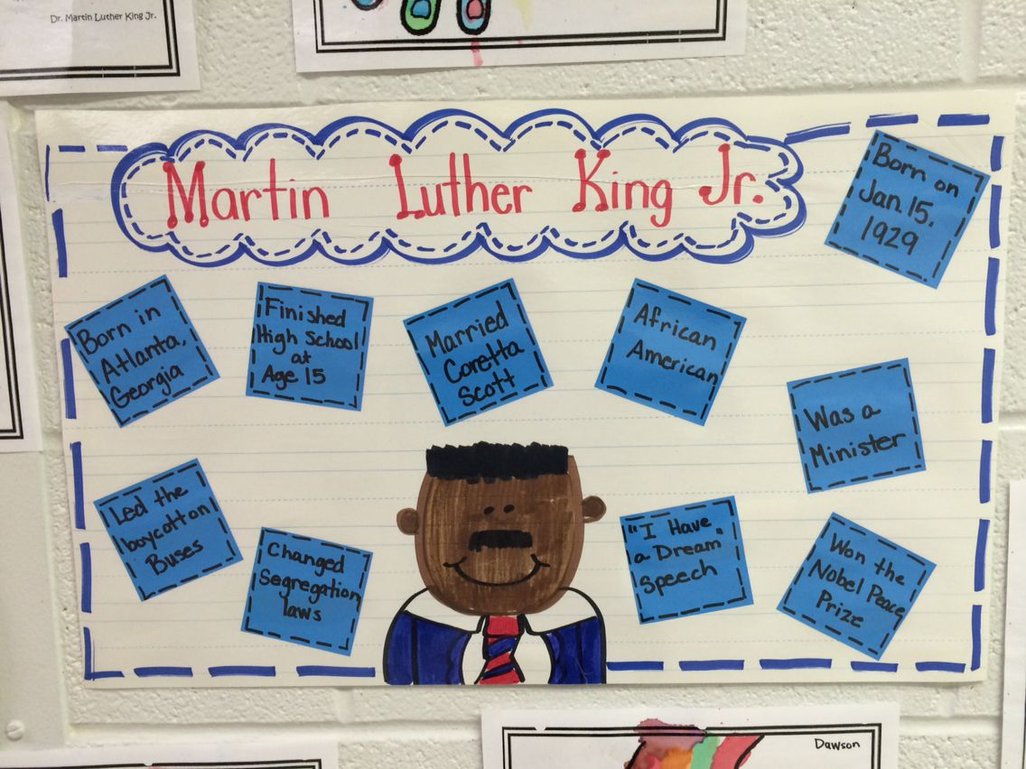 Mlk Anchor Chart We Made After Reading Books About His