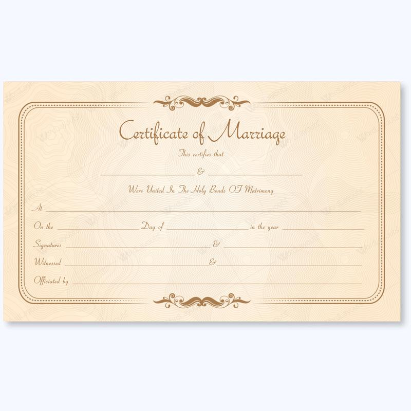 Marriage Certificate 14 Marriage Certificate Templates Pinterest