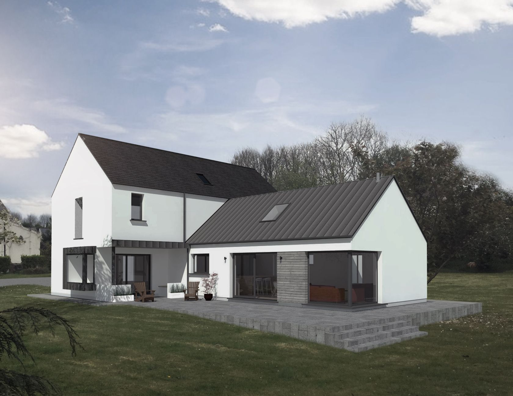 Rural house ireland homes dormer storey extensions also pin by ann collins on houses pinterest design and rh in