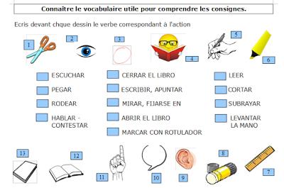 Ap Comprendre Les Consignes En Espagnol Espagnol Enseigner L Espagnol Espagnol Apprendre