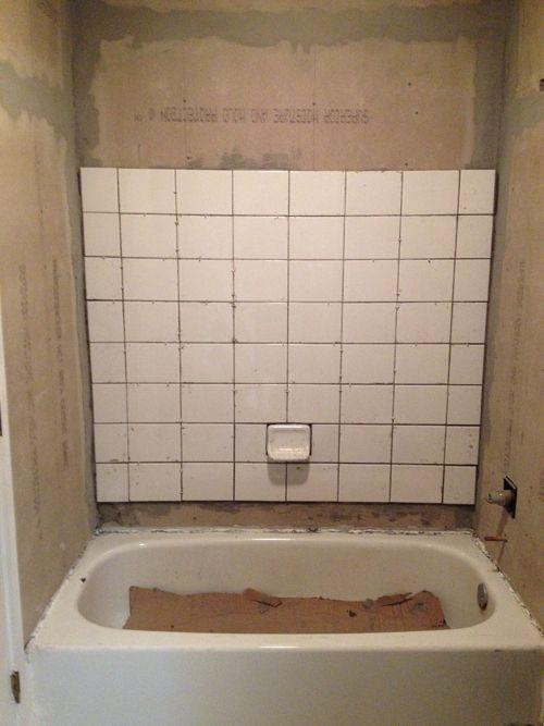 Retiling A Shower Bathroom Makeover Diy Bathroom Bathroom Redo