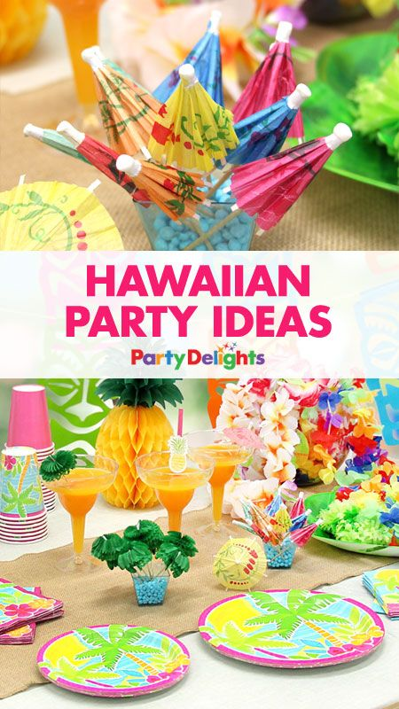 6f1b5d4bdd95 Celebrate summer with our collection of Hawaiian party ideas! Perfect for a  barbecue or summer party