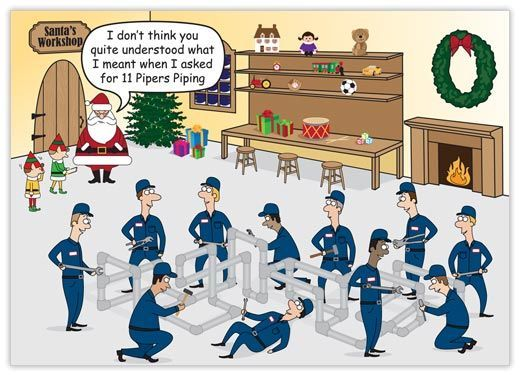 11 Pipers Piping Plumbing Card Plumbing Jokes And Memes