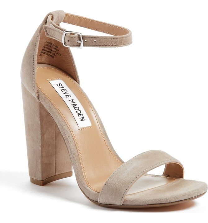STEVE MADDEN | Carrson Sandal in taupe suede | Size 8.5