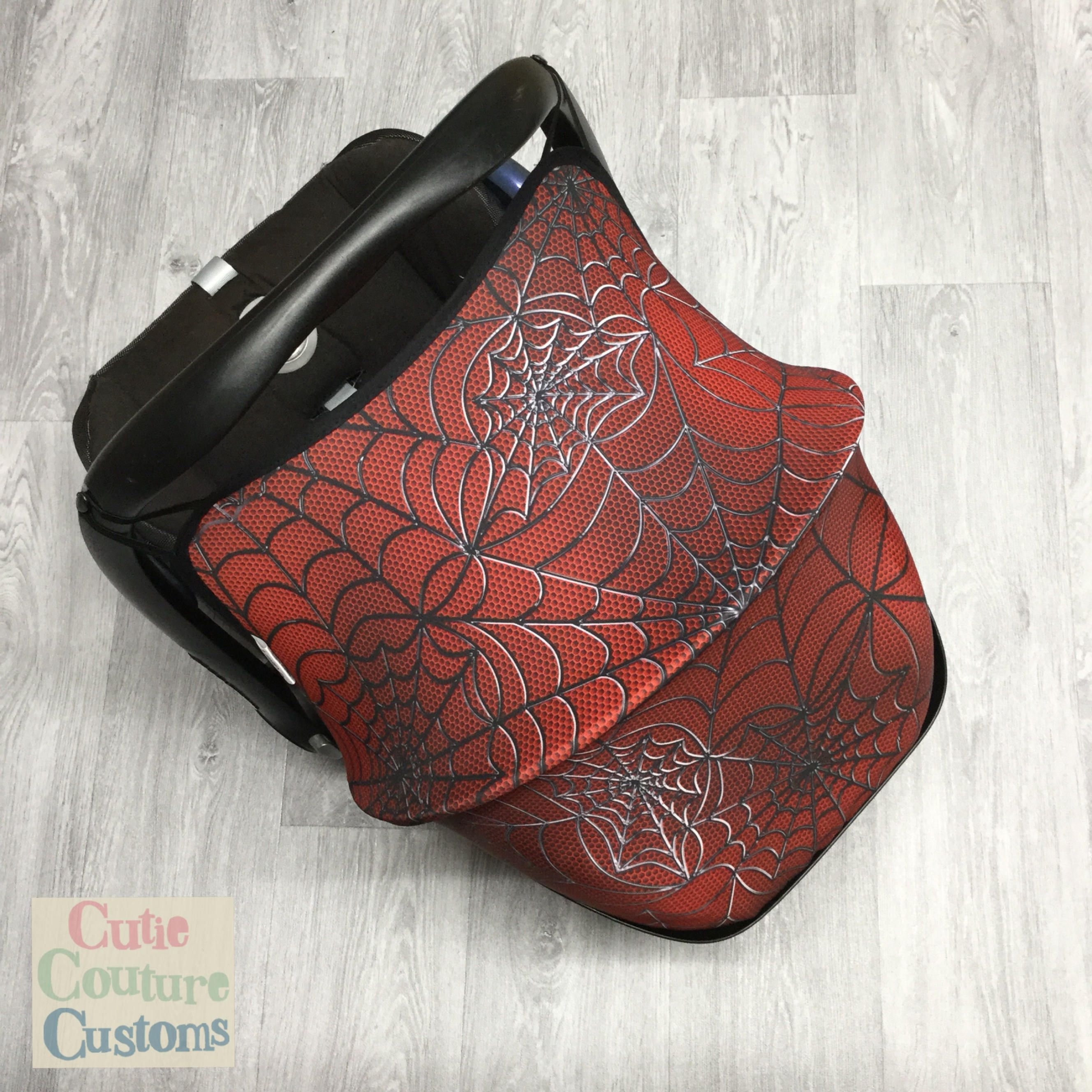 Spiderman toddler car seat cover-new-handmade