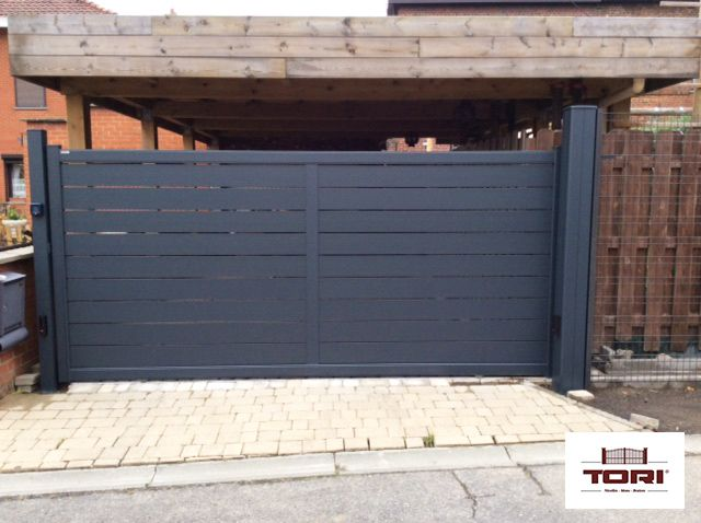 Portail Coulissant Aluminium Maez wwwtoriportailsbe gate doors - Pose De Lambris Pvc Exterieur