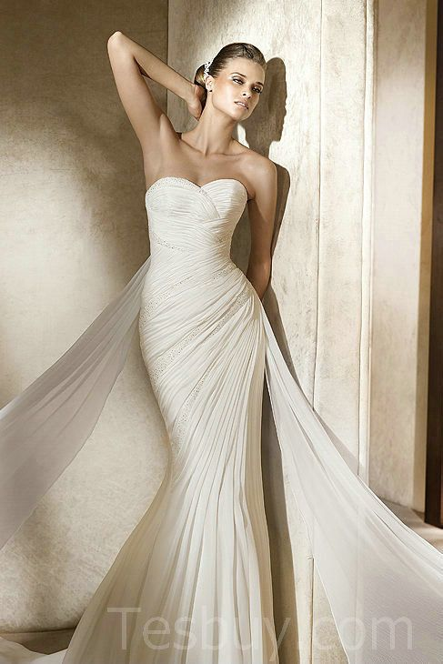 Ruched Sweetheart Ruched Designer Mermaid Wedding Dress 2012,$389 ...