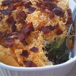 Deep Dish Layered Salad - looks very similar to Grandma's...is better if you make it a day in advance