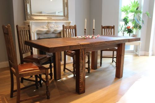 Reclaimed Wood Extendable Dining Table