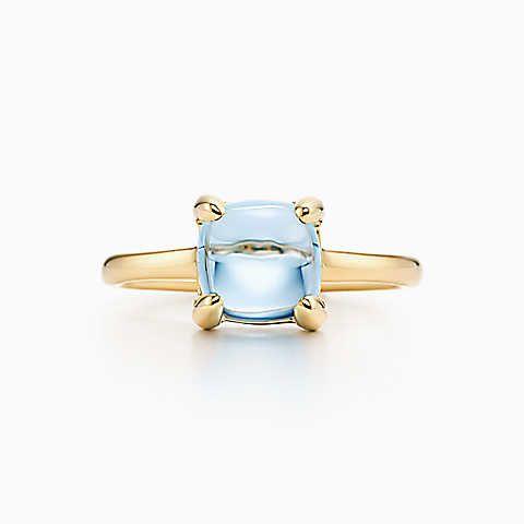 paloma 39 s sugar stacks ring 18 karat gold mit einem blauen topas verlobungsringe pinterest. Black Bedroom Furniture Sets. Home Design Ideas