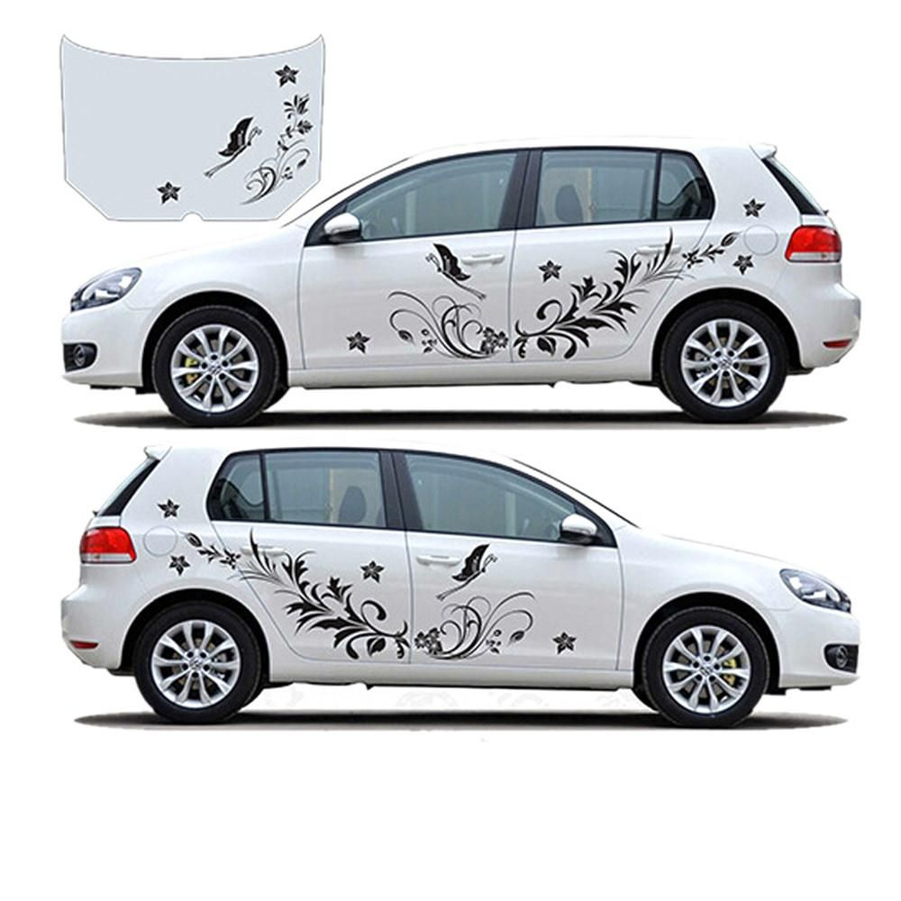 2x Car Modified Decal Stickers Vine Flower Natural for Whole Body Decoration Hot