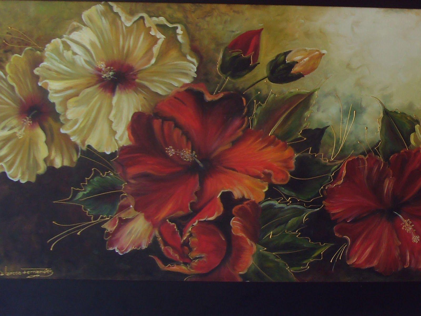 Resultado de imagem para pintura flores vermelhas