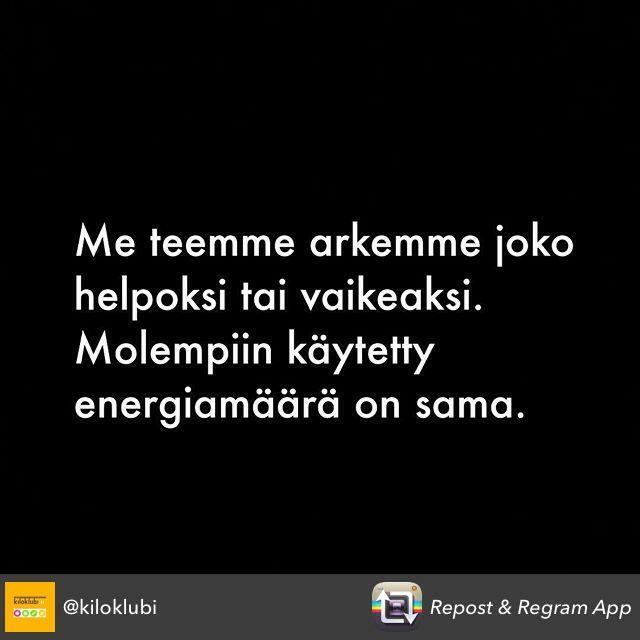 Netissä toimiva painonhallintapalvelu Kiloklubi julkaisi viikolla Instagramissa kuvan, josta on helppo tykätä. Asia on juuri näin. | Satuhetki