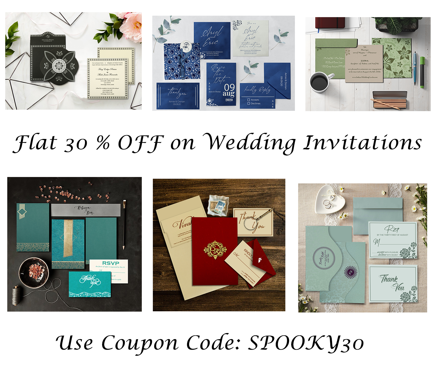 Purchase any invitation from our collection and save 30% ❤️on invitations. Use Code: SPOOKY30💥 #weddingivnitationsoffers #weddinginvitations #offers #invitationoffers #weddingdeals #weddingcards #weddinginvites #wedding #invitationsale