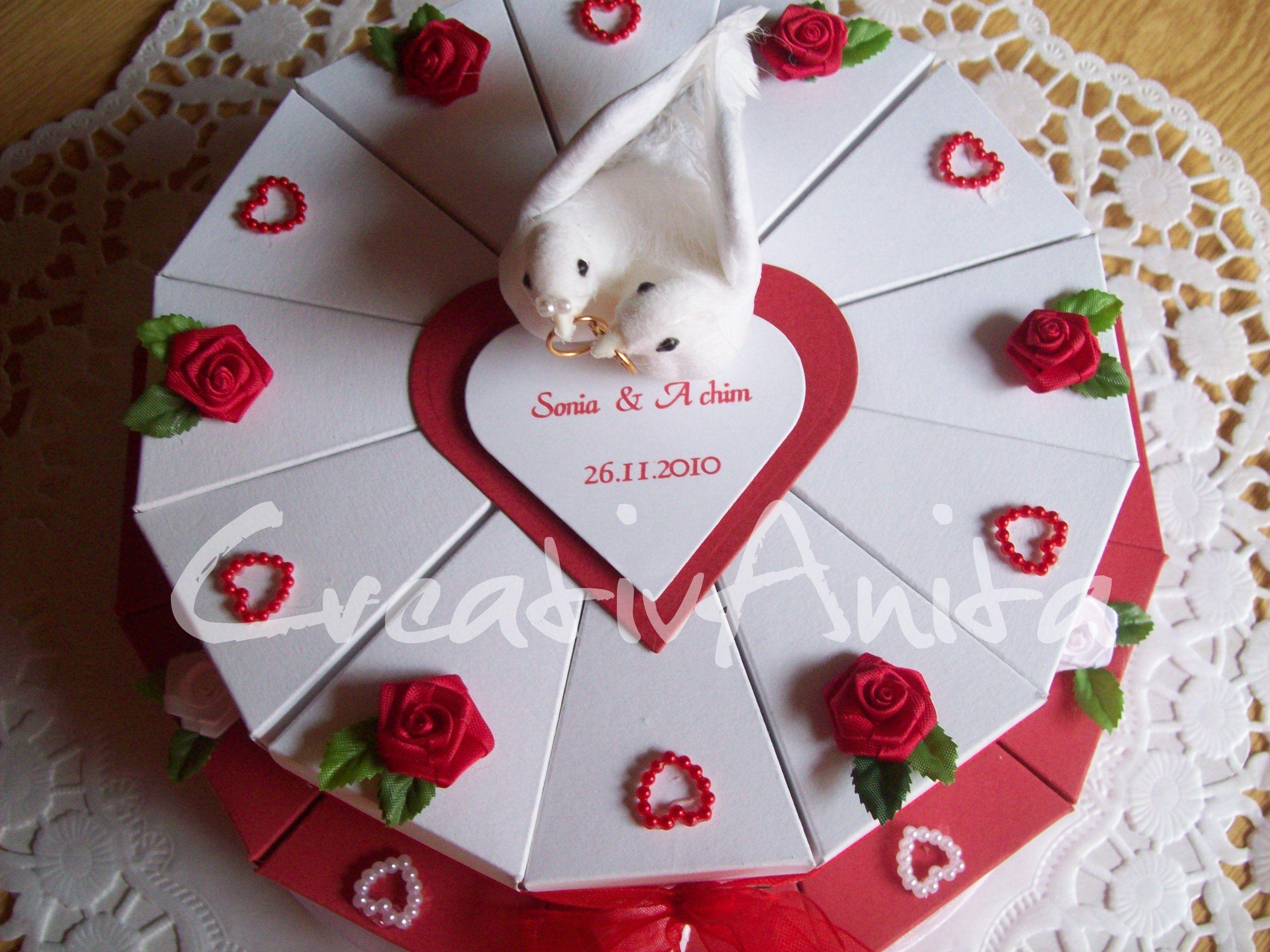 Hochzeitstorte 2 Stockig Rot Weiss Hochzeitstorten Pinterest