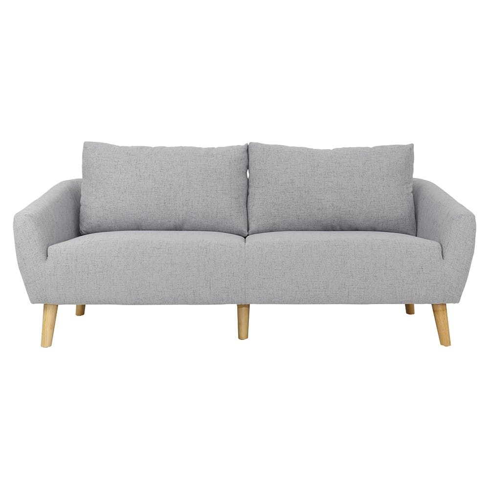 Hana 3 Seater Sofa Light Grey 3 Seater Sofa Sofa L Shaped Sofa