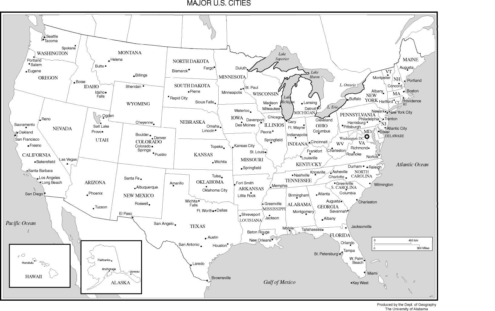 Maps United States Map Not Labeled Printable And With Outline